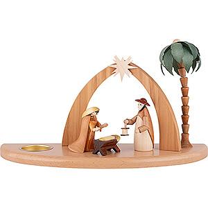 World of Light Candle Holder Nativity Candle Holder - Nativity Scene - 17 cm / 7 inch