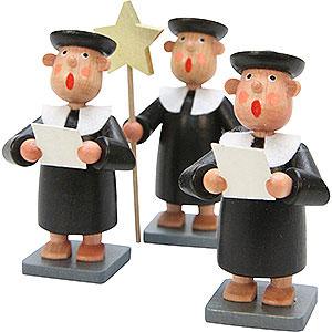 Small Figures & Ornaments Bengelchen (Ulbricht) Misc. Bengelchen Carolers Bengelchen 3 pcs. - 6,5 cm / 3 inch