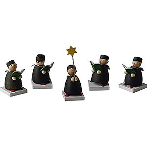 Small Figures & Ornaments Carolers Carolers Set of Five - 3,5 cm / 1.3 inch