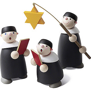 Small Figures & Ornaments Carolers Carolers - Set of Three - 9 cm / 3.5 inch
