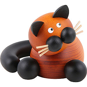 Small Figures & Ornaments Animals Cats Cat Bommel Cuddling - 5,5 cm / 2 inch
