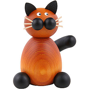 Small Figures & Ornaments Animals Cats Cat Bommel Sitting - 7 cm / 2.8 inch