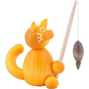 Small Figures & Ornaments Animals Cats Cat Emmi with Fish - 8 cm / 3.1 inch
