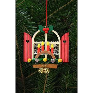 Baumschmuck Weihnachten Christbaumschmuck Adventsfenster mit Schwibbogen 7,6x7,0 cm