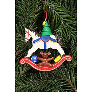 Baumschmuck Spielzeug-Design Christbaumschmuck Baum auf Schaukelpferd - 6,8x6,5 cm