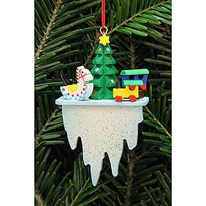 Christbaumschmuck Spielzeug-Design Christbaumschmuck Baum mit Spielzeug auf Eiszapfen - 4,5x7,8 cm