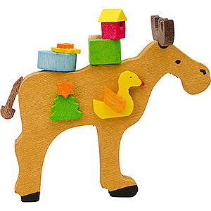 Baumschmuck Spielzeug-Design Christbaumschmuck Elch mit Ente - 6 cm