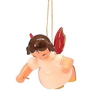 Baumschmuck Engel Baumbehang Schwebeengel - rote Flügel Christbaumschmuck Engel Dirigent - Rote Flügel - schwebend - 5,5 cm