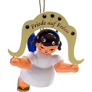 Weihnachtsengel Engel Baumbehang Schwebeengel - blaue Flügel Christbaumschmuck Engel