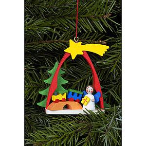 Christbaumschmuck Engel Baumbehang Sonstige Engel Christbaumschmuck Engel im Bogen mit Zug - 7,4x6,3 cm