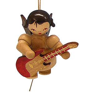 Christbaumschmuck Engel Baumbehang Schwebeengel - natur Christbaumschmuck Engel mit E-Gitarre - natur - schwebend - 5,5 cm
