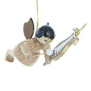 Baumschmuck Engel Baumbehang Schwebeengel - natur Christbaumschmuck Engel mit Glockenspiel - natur - schwebend - 5,5 cm