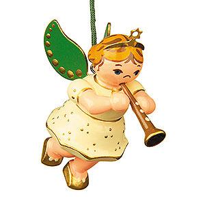 Baumschmuck Engel Baumbehang Schwebeengel Christbaumschmuck Engel mit Klarinette - 6 cm