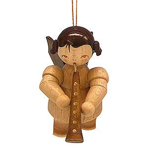 Baumschmuck Engel Baumbehang Schwebeengel - natur Christbaumschmuck Engel mit Oboe - natur - schwebend - 5,5 cm