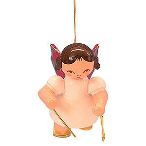 Baumschmuck Engel Baumbehang Schwebeengel - rote Flügel Christbaumschmuck Engel mit Triangel - Rote Flügel - schwebend - 5,5 cm
