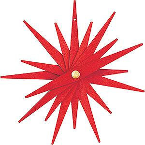 Baumschmuck Mond & Sterne Christbaumschmuck Faltstern rot, 3 Stück - 9,5 cm