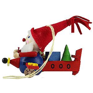 Baumschmuck Weihnachtsmann Christbaumschmuck Fliegender Weihnachtsmann - 7 cm