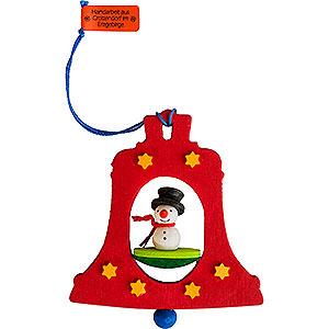 Baumschmuck Schneemänner Christbaumschmuck Glocke mit Schneemann - 7,5 cm