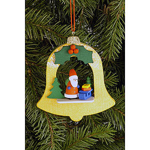 Christbaumschmuck Weihnachtsmann Christbaumschmuck Glocke mit Weihnachtsmann - 7,1x7,9 cm