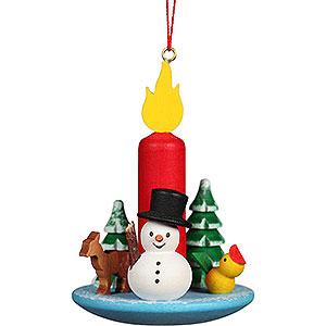 Baumschmuck Spielzeug-Design Christbaumschmuck Kerze mit Schneemann - 5,4x7,4 cm