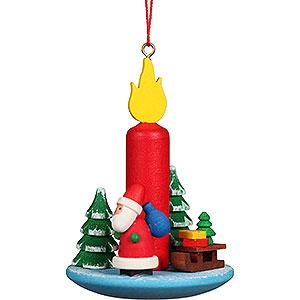 Baumschmuck Spielzeug-Design Christbaumschmuck Kerze mit Weihnachtsmann - 5,4x7,4 cm