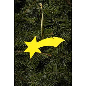 Baumschmuck Mond & Sterne Christbaumschmuck Komet gelb - 9,2 / 3,6 cm