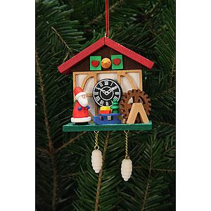 Baumschmuck Weihnachtsmann Christbaumschmuck Kuckucksuhr Niko am Wasserrad - 7,0x6,7 cm