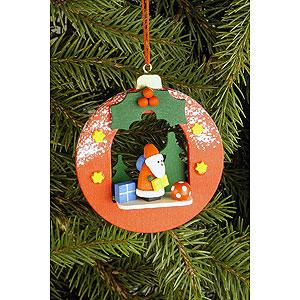 Baumschmuck Weihnachtsmann Christbaumschmuck Kugel mit Weihnachtsmann - 6,7x7,4 cm