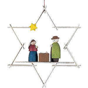 Baumschmuck Mond & Sterne Christbaumschmuck Maria und Josef - 9,5 cm