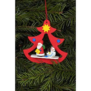 Christbaumschmuck Weihnachtsmann Christbaumschmuck Nikolaus im Baum - 7,2x7,1 cm