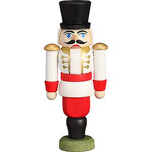 Baumschmuck Weihnachten Christbaumschmuck Nussknacker - Husar weiß - 9 cm