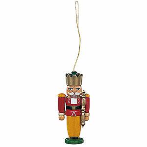 Baumschmuck Weihnachten Christbaumschmuck Nussknacker König farbig - 8 cm