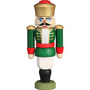 Baumschmuck Weihnachten Christbaumschmuck Nussknacker - König grün - 9 cm