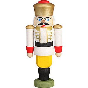 Baumschmuck Weihnachten Christbaumschmuck Nussknacker - König weiß - 9 cm