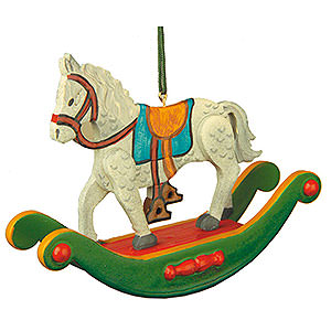 Baumschmuck Spielzeug-Design Christbaumschmuck Schaukelpferd - 7 cm