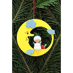 Baumschmuck Sonstiger Baumschmuck Christbaumschmuck Schneeflöckchen im Mond - 7,9x7,9 cm