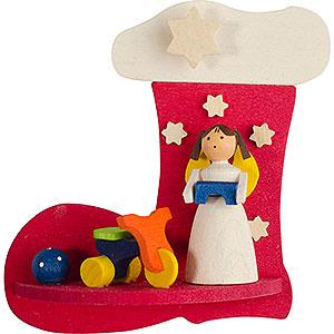 Baumschmuck Spielzeug-Design Christbaumschmuck Stiefel-Engel mit Dreirad - 7 cm