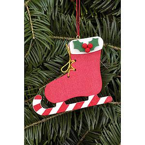 Christbaumschmuck Weihnachten Christbaumschmuck Stiefel mit Zuckerstange - 8,0x6,8 cm