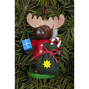 Baumschmuck Weihnachten Christbaumschmuck Strolch Elch Weihnachtsmann - 9,5 cm