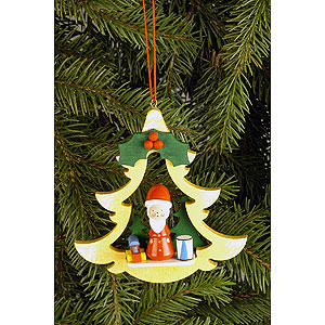 Baumschmuck Weihnachtsmann Christbaumschmuck Tanne mit Weihnachtsmann - 8,5x8,7 cm