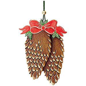 Baumschmuck Sonstiger Baumschmuck Christbaumschmuck Tannenzapfen mit Schleife - 10 cm