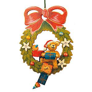 Christbaumschmuck Spielzeug-Design Christbaumschmuck Teddy-Adventskranz - 7 cm