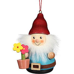 Baumschmuck Strolche & Andere Christbaumschmuck Wackelmännchen Zwerg mit Blumentopf - 8 cm