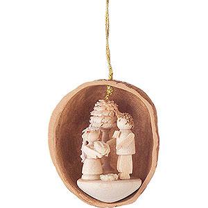 Baumschmuck Walnussschalen Christbaumschmuck Walnussschale mit Brautpaar - 4,5 cm