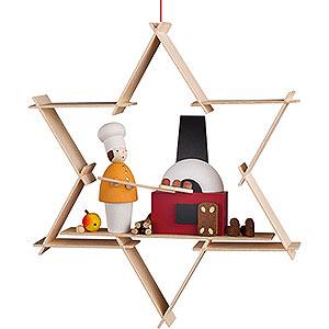 Baumschmuck Mond & Sterne Christbaumschmuck Weihnachtsbäckerei - 9,5 cm
