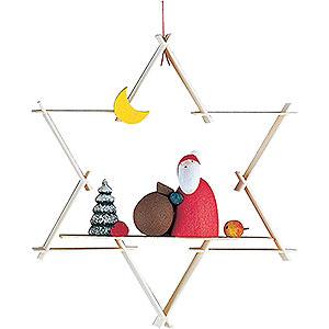 Baumschmuck Mond & Sterne Christbaumschmuck Weihnachtsmann - 9,5 cm