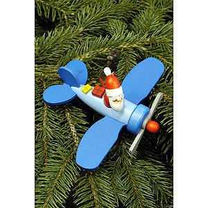Baumschmuck Weihnachtsmann Christbaumschmuck Weihnachtsmann im Flieger - 10,0x5,0 cm