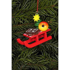 Christbaumschmuck Weihnachtsmann Christbaumschmuck Weihnachtsschlitten - 5,3x4,3 cm