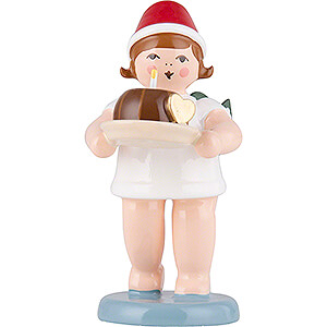Angels Christmas Angels (Ellmann) Christmas Angel with Crown and Cake - 6,5 cm / 2.6 inch