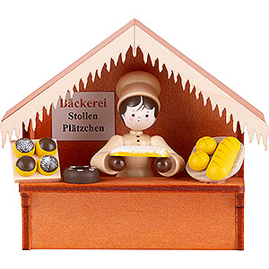 Small Figures & Ornaments Thiel Figurines Christmas Market Stall Bakery with Thiel Figurine - 8 cm / 3.1 inch